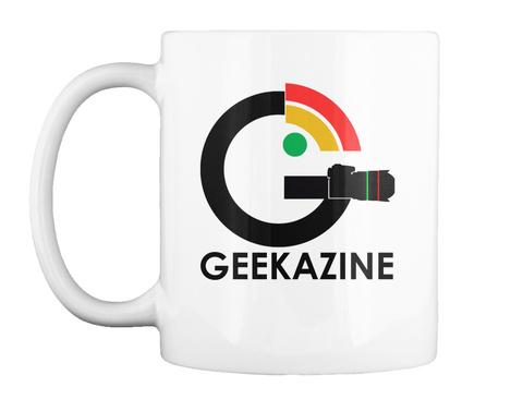 Geekazine White T-Shirt Front