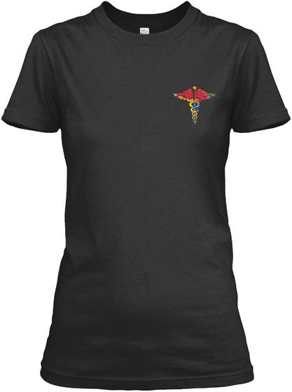 Proud Nurse Shirt Black T-Shirt Front