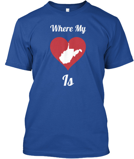 Where My Is Deep Royal T-Shirt Front