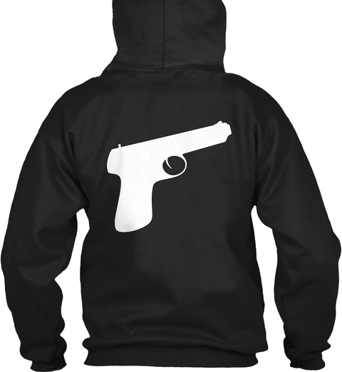 Money Motivated Hoodie Black T-Shirt Back
