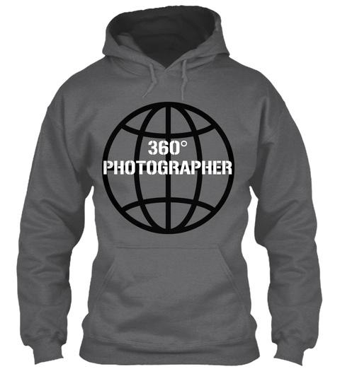 360 Photographer Dark Heather T-Shirt Front