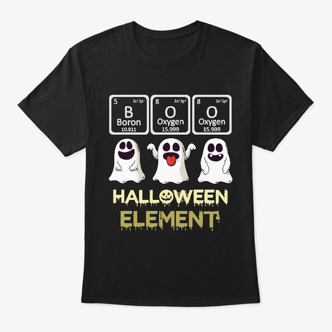 Boo Scary Halloween  Element Black T-Shirt Front