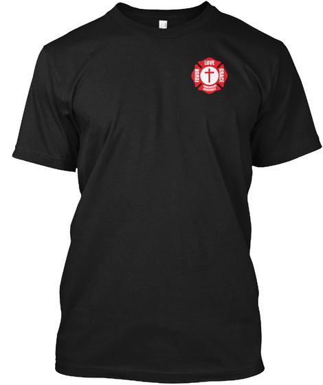 Love Grace Favor Black T-Shirt Front