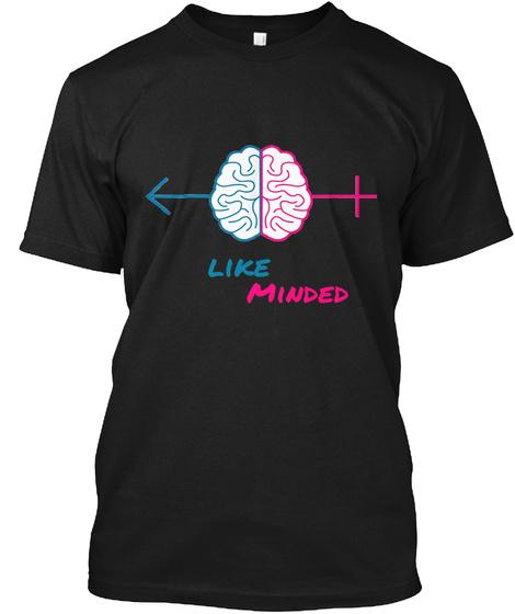 Like Minded Black T-Shirt Front