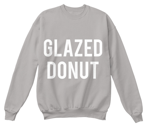 Glazed Donut Light Steel  Camiseta Front