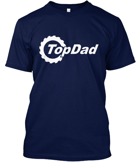 Top Dad Navy T-Shirt Front
