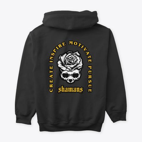 Rose Skull Black T-Shirt Back