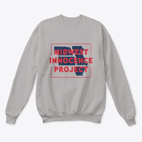 Mip Crewneck Sweatshirt (Light) Light Steel  T-Shirt Front