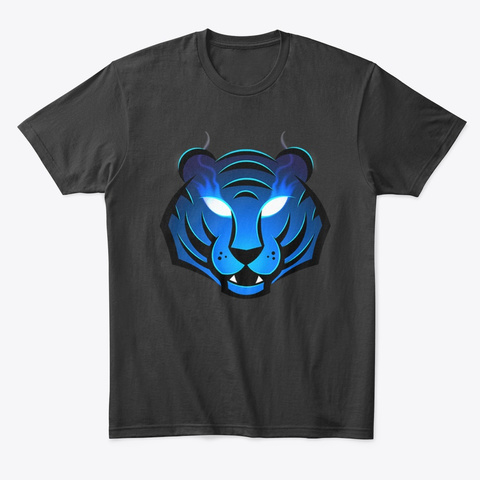 The Siberian Tiger Of Streaming Black T-Shirt Front
