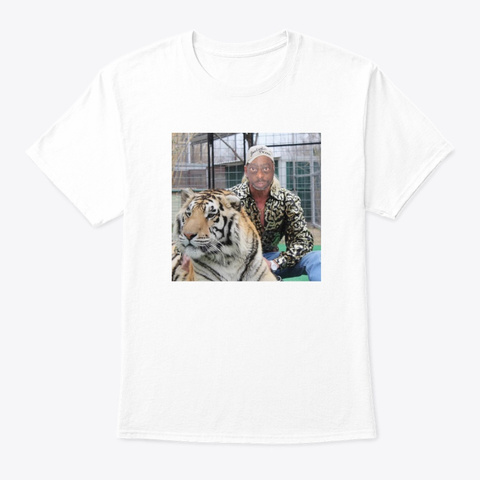 """Beet With A Tiger"" Tee White T-Shirt Front"