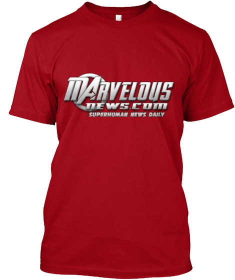 Marvelous Ne Ws Com Superhuman News Daily Deep Red T-Shirt Front