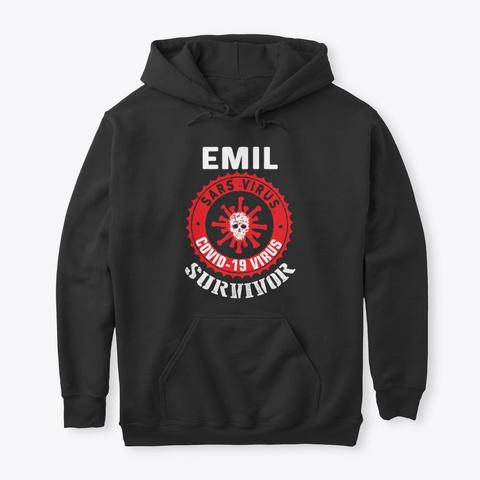 Emil The Survivor Black T-Shirt Front
