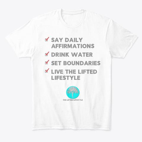 Checklist White T-Shirt Front
