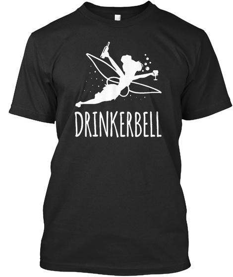 Drinkerbell Black T-Shirt Front