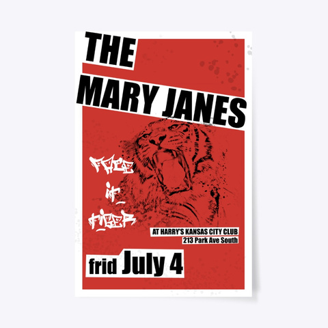 The Mary Janes Commemorative Print Standard T-Shirt Front