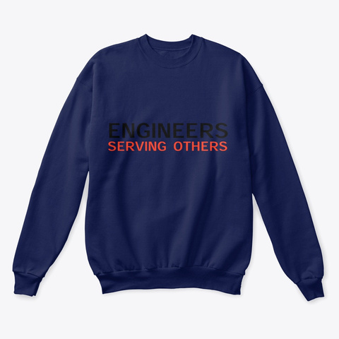 Engineers Serving Others Crewneck Navy  T-Shirt Front