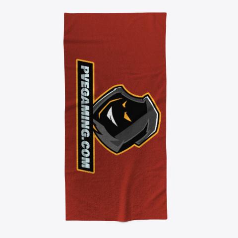 Pvegaming Merch Dark Red T-Shirt Front