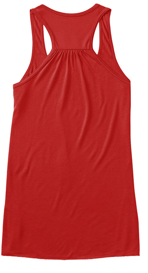 Strong Shoulders Serve Aces! Red Women's Tank Top Back