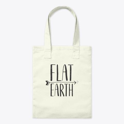 Flat Earth Retro Arrow Science Conspirac Natural T-Shirt Front