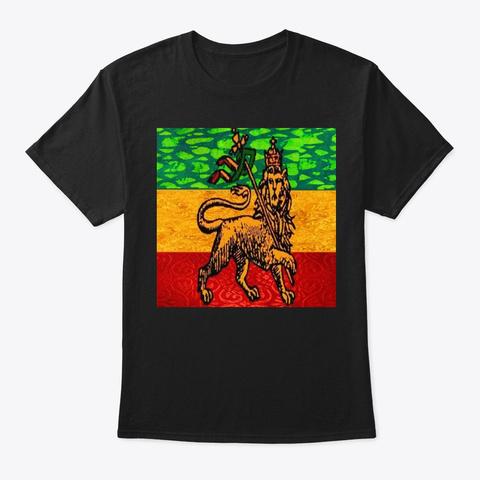 Rasta Flag  Black T-Shirt Front