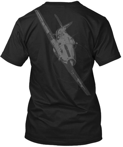 Hawker Hurricane Black T-Shirt Back