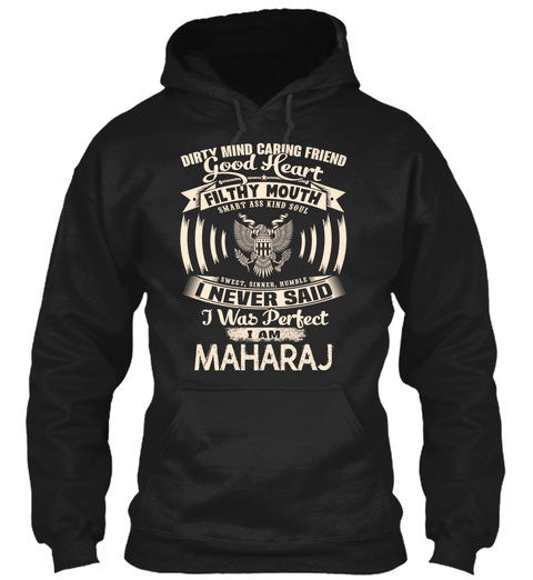 Maharaj Name Perfect Black T-Shirt Front