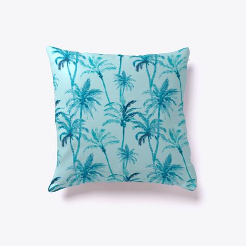 Blue Palm   Tropical Floral Pattern Standard T-Shirt Back