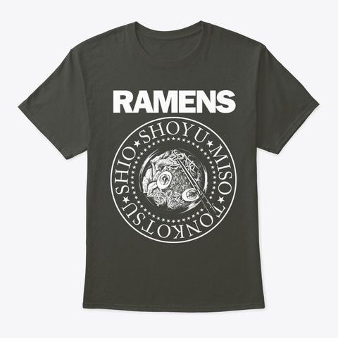Ramens Rock Oriental Ramen Noodle Food Smoke Gray T-Shirt Front