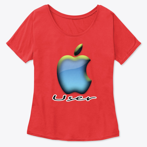 """I""""M  Apple User. Red T-Shirt Front"""