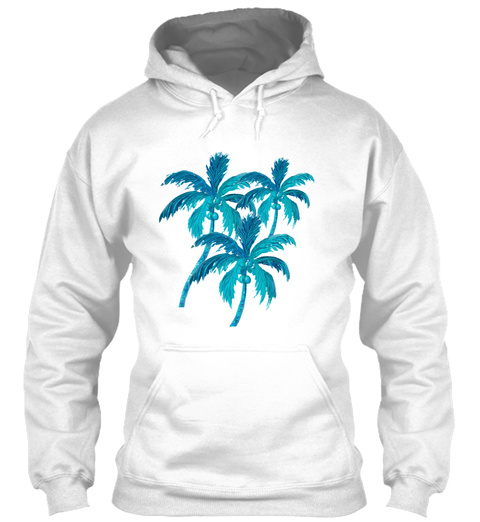 Palm Trees White T-Shirt Front