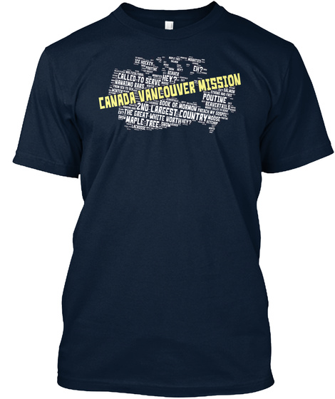 Canada Vancouver Mission New Navy T-Shirt Front