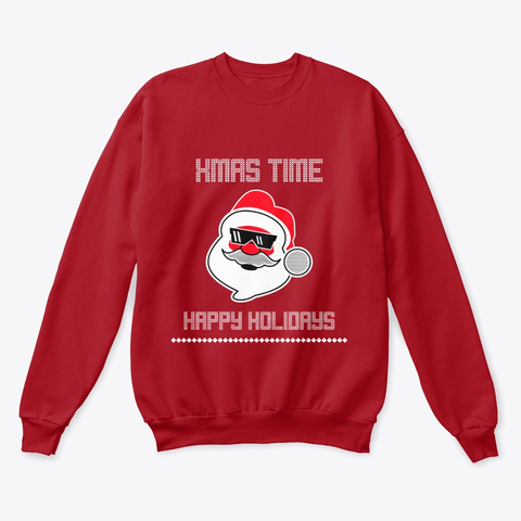 Xmas Time  Funny Christmas Shirts Deep Red  T-Shirt Front