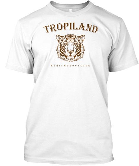 Tropiland Tiger T Shirt White T-Shirt Front