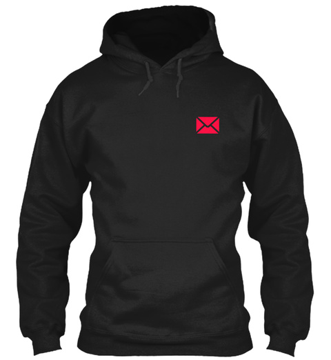 Proud Postal Worker Hoodie Black T-Shirt Front