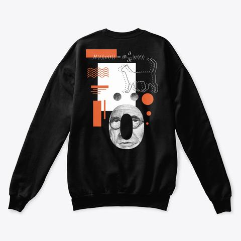 Erwin Schrödinger (Black) Black T-Shirt Back