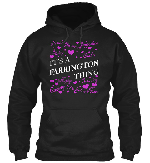 Its A Farrington Thing Black T-Shirt Front