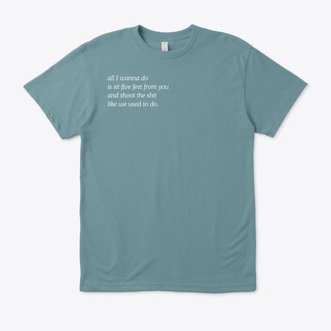 'stir Crazy' Lyric Tees Heather Pacific T-Shirt Front