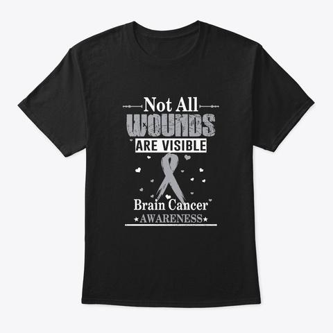 Brain Cancer Cancer Awareness Shirt Black T-Shirt Front