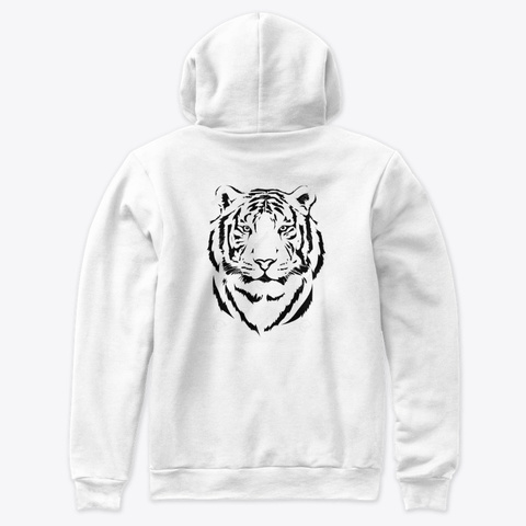 The Soul Of The Tiger White T-Shirt Back