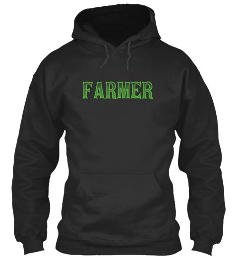 Farmer Jet Black T-Shirt Front