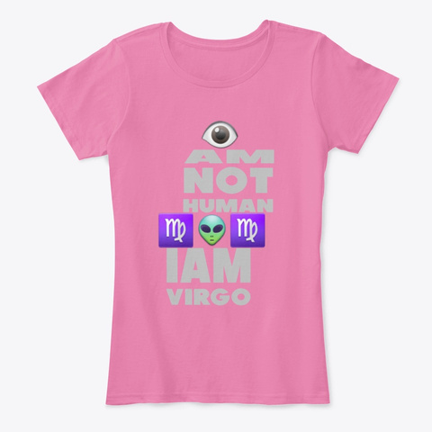 Iam Virgo Queen True Pink T-Shirt Front