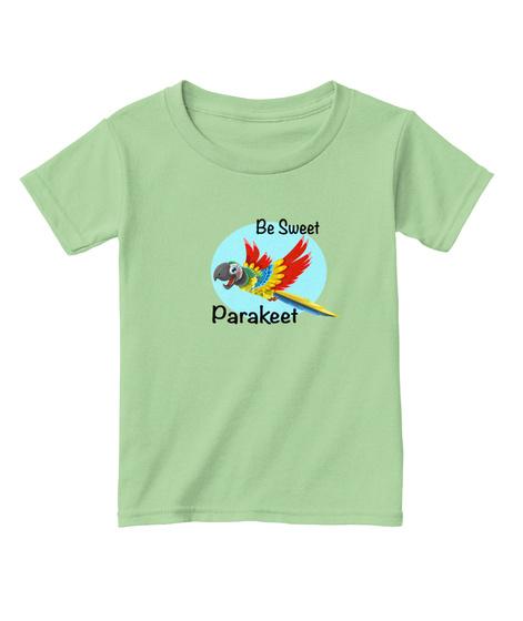 Be Sweet Parakeet T Shirt Mint Green T-Shirt Front