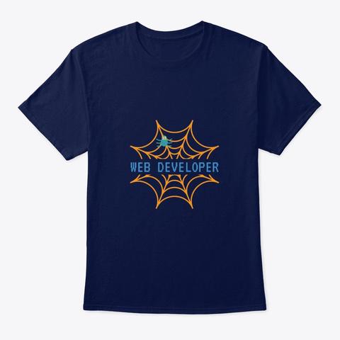Web Developer Navy T-Shirt Front