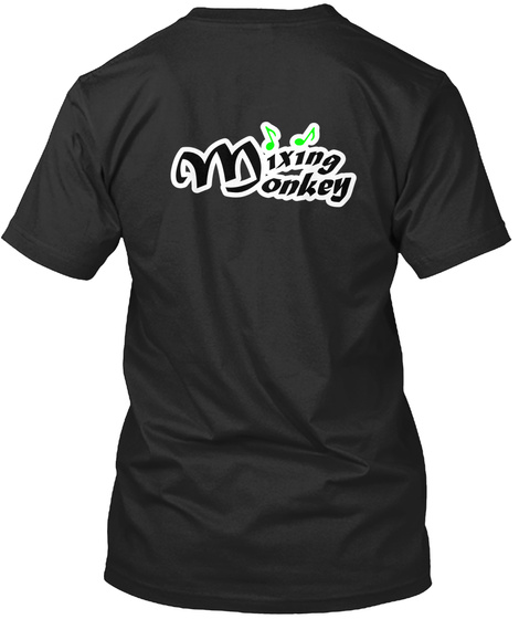 Green Special Black T-Shirt Back