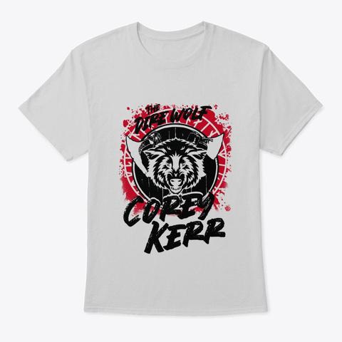 """""""Dire Wolf"""" Corey Kerr Splatter Light Steel T-Shirt Front"""