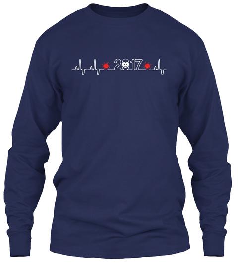Happy New Year   Heartbeat Navy T-Shirt Front
