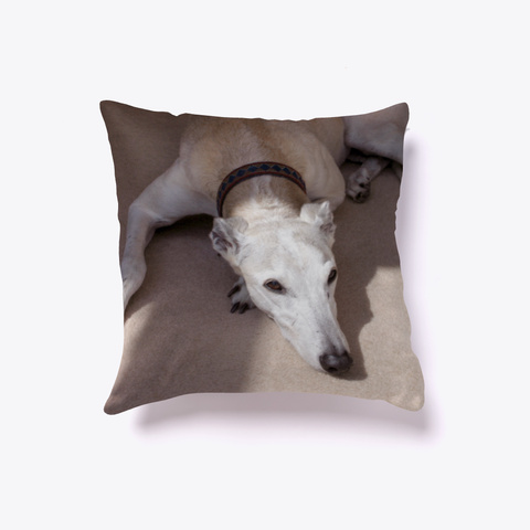 Soft Light Greyhound White T-Shirt Front