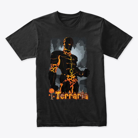 Molten Armor – Terraria Merchandise Black T-Shirt Front