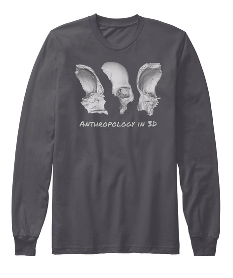 Anthropology In 3 D Asphalt Long Sleeve T-Shirt Front