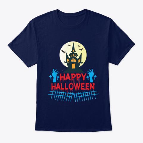 Happy Halloween T Shirt Navy T-Shirt Front